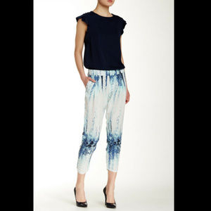Parker DEVLIN Pleated Cropped Pants in Watercolor